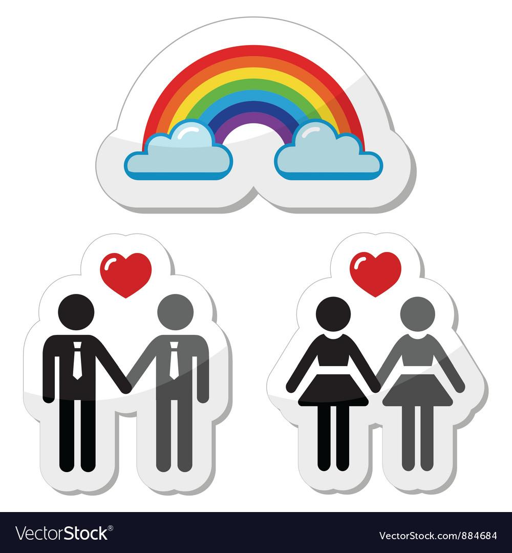 Raibnow gay couples icons
