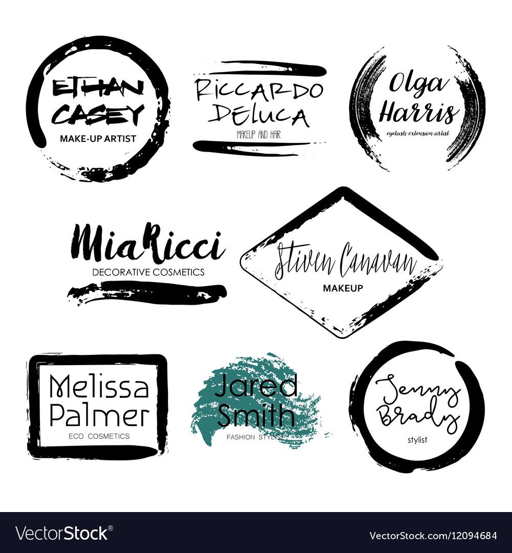 Set of Makeup Artist design logo templates