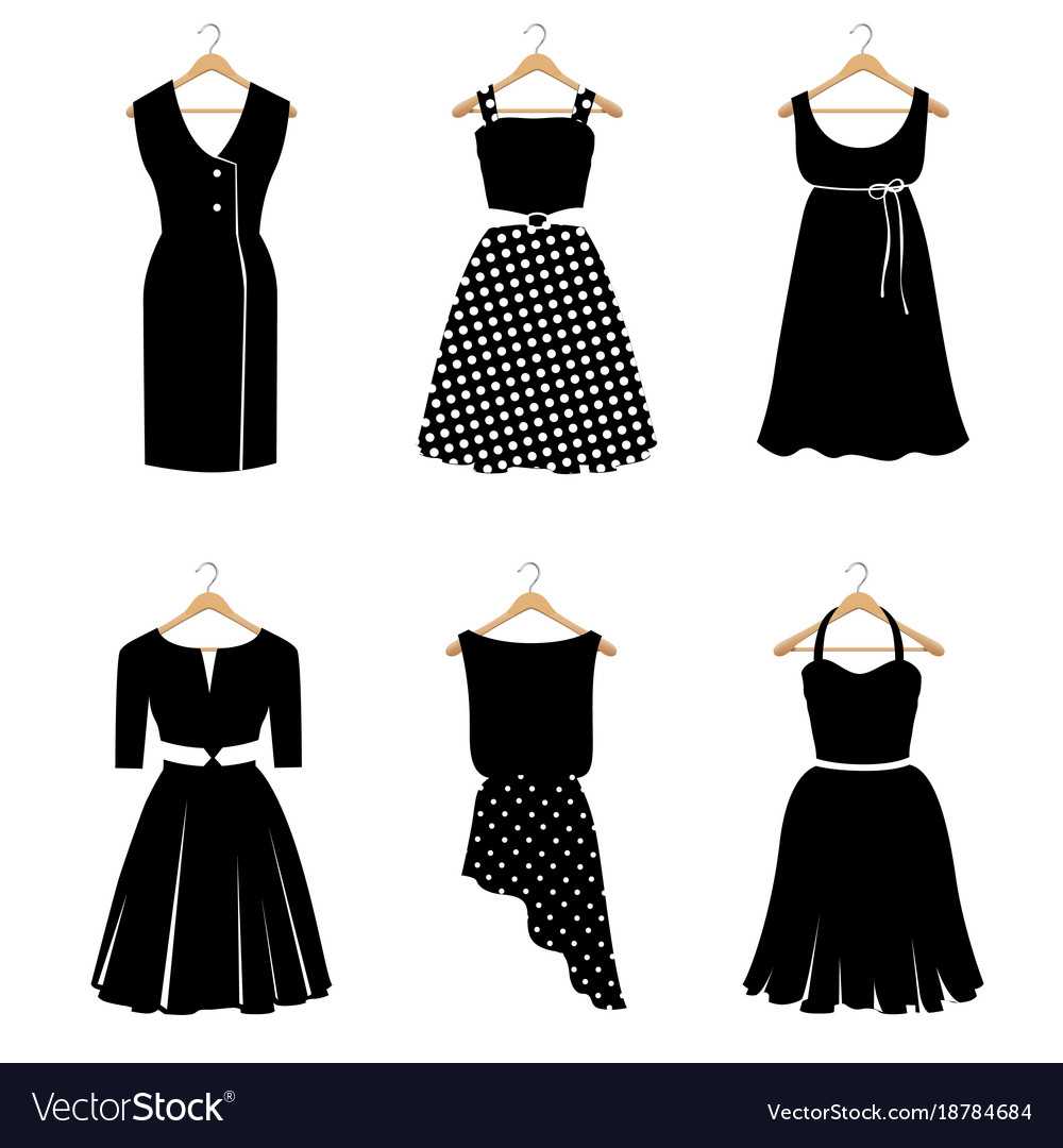 Six elegant black dresses