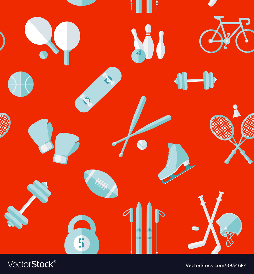 Sports seamless pattern equipment