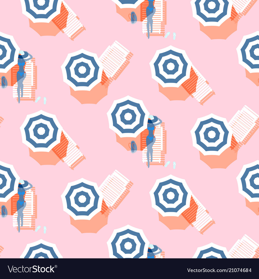 Summer seamless pattern vintage colors