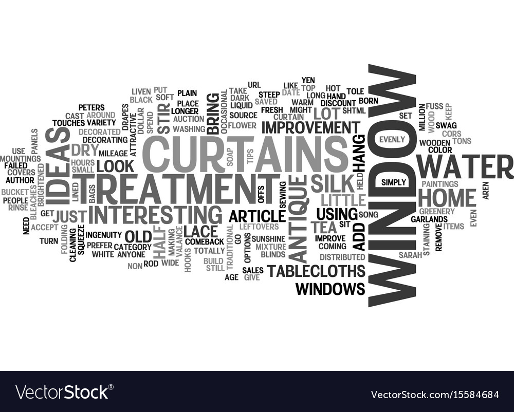 Window treatment ideas to improve your home text