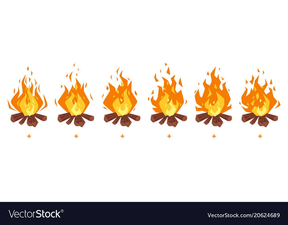 Camp fire sprites for animation
