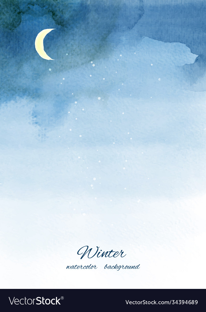 Christmas winter watercolor background with