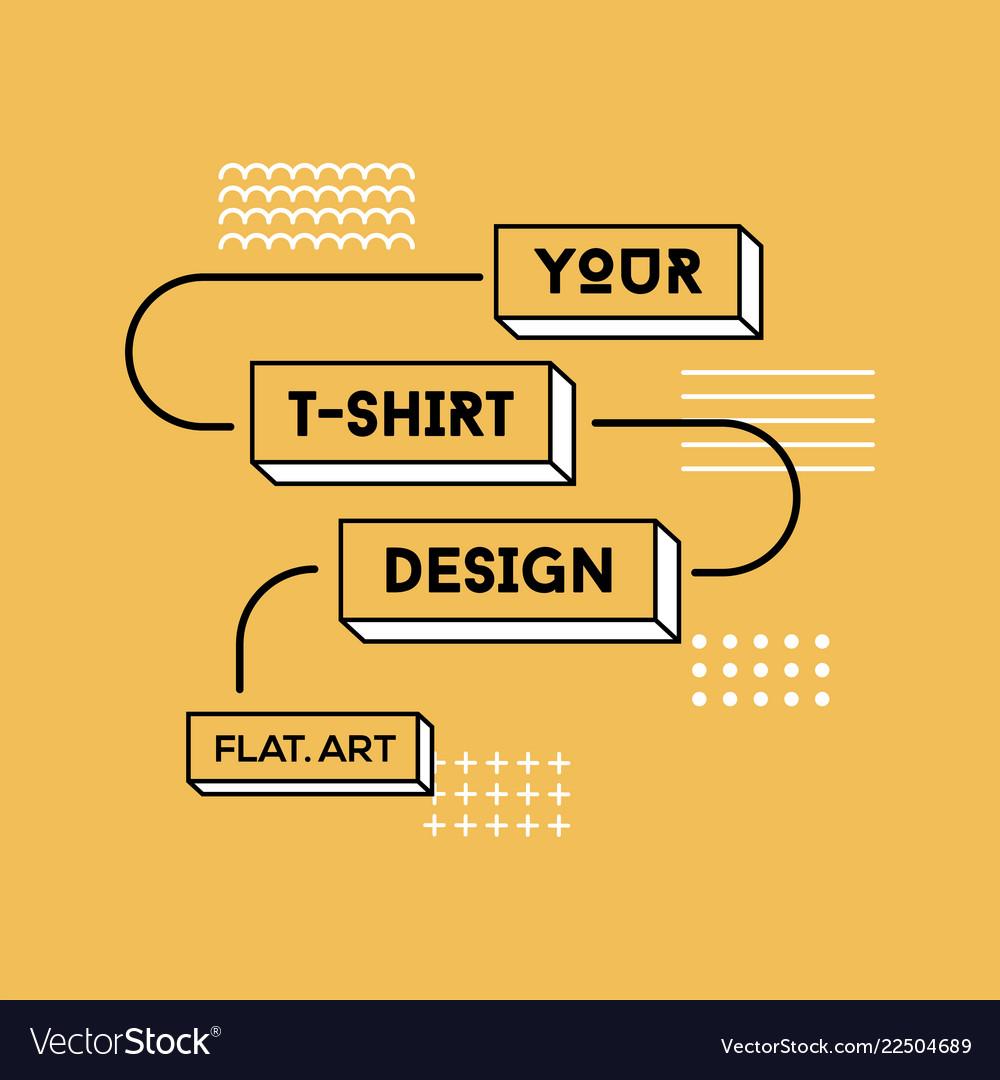 Color flat t-shirt print design
