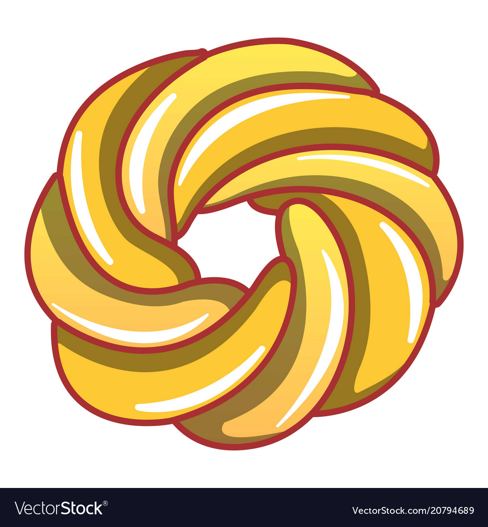 Curl bakery icon cartoon style