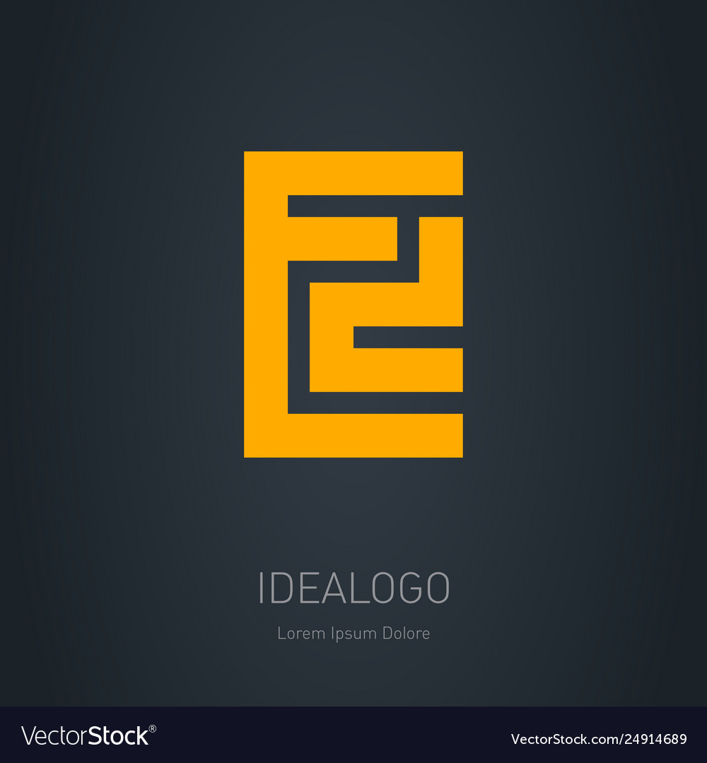 Ed - design element or icon e and d initial logo