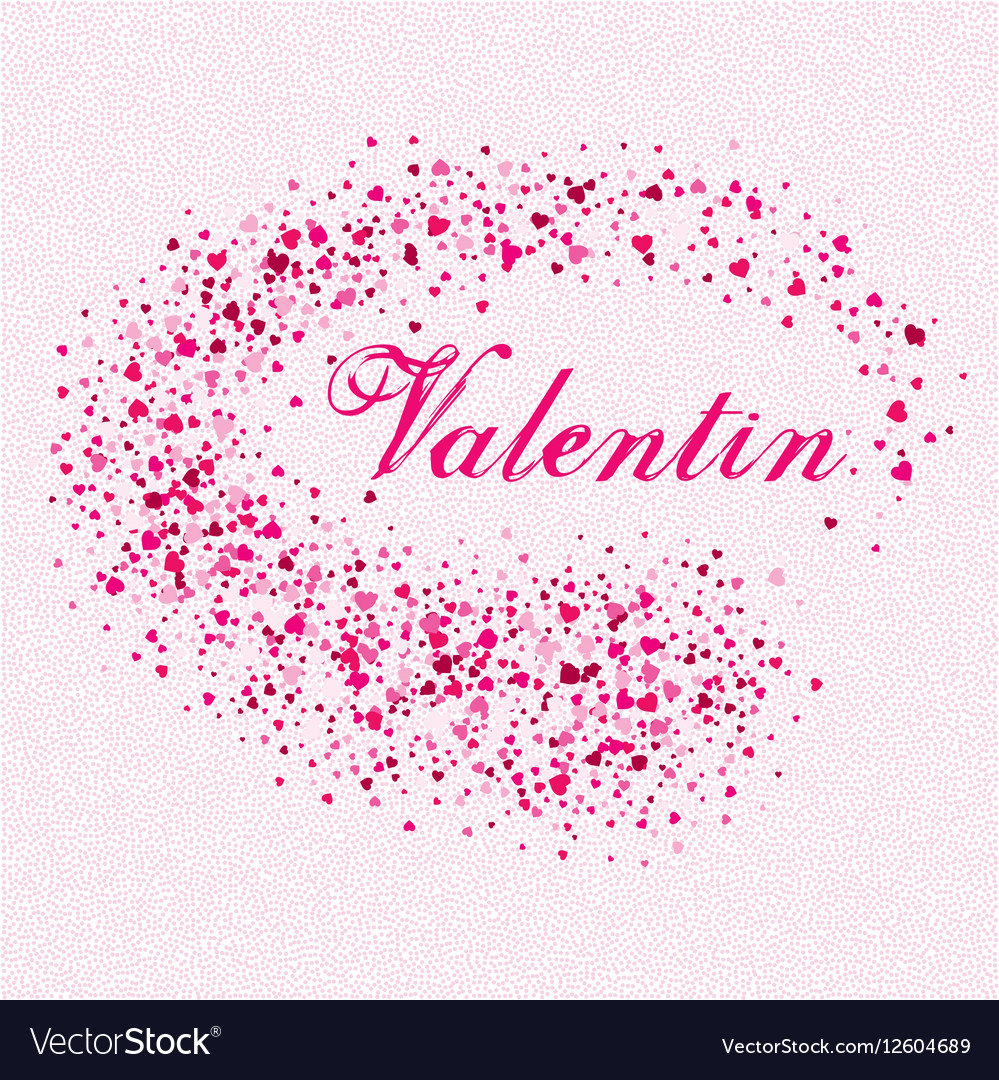 Festive background for postcard with hearts for vector image