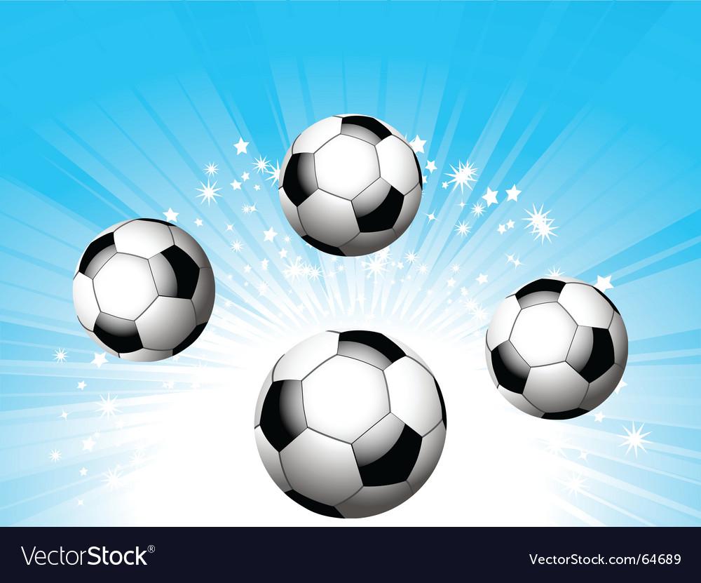 Football starburst vector image
