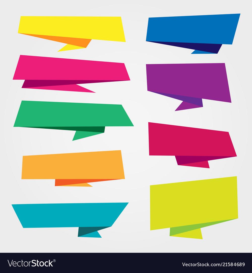 Frame banner ribbon tag pattern label colorful