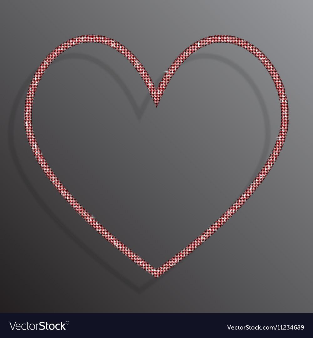 Frame Red Sequins Heart Glitter sparkle