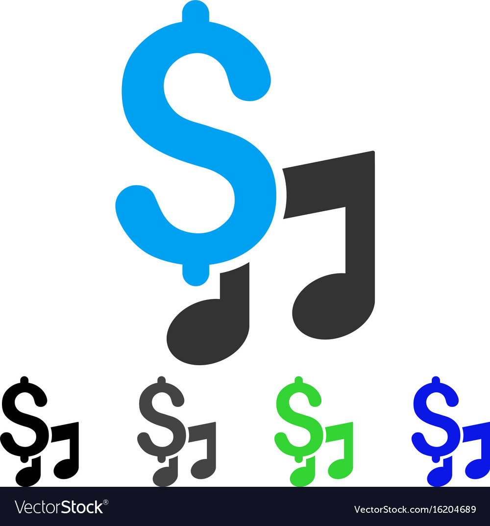 Music price flat icon vector image