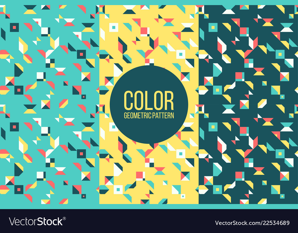 Retro abstract pattern in geometric style classic