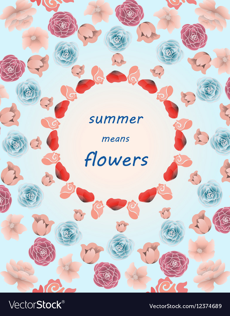 Summer colorful multiple flowers pattern