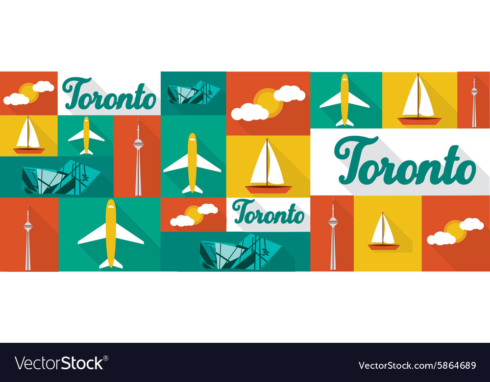 Travel and tourism icons Toronto
