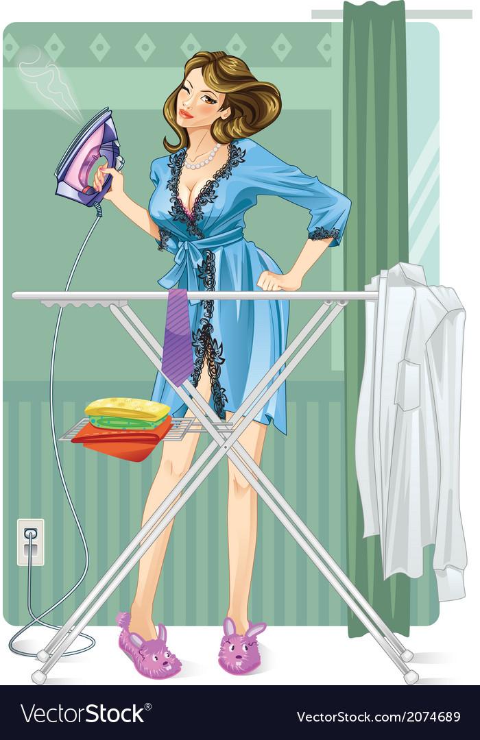 Девушка гладит белье смешные картинки