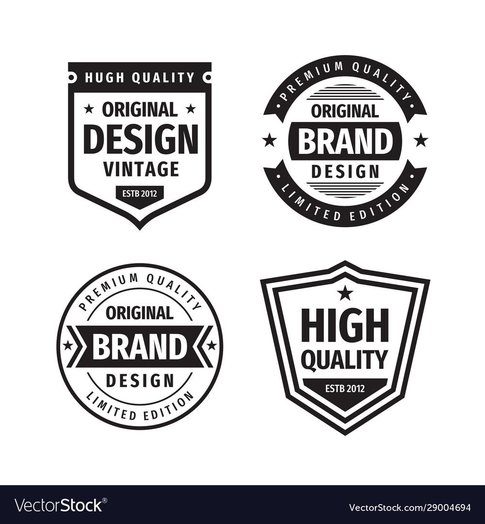 Business badges set in retro vintage design