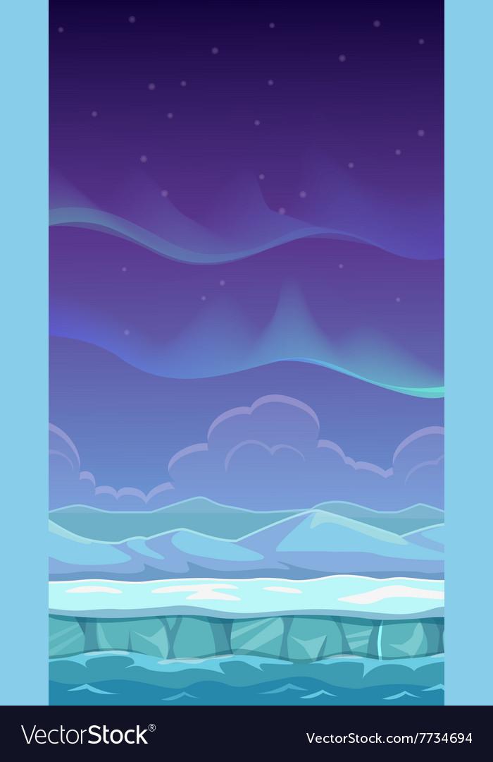 Cartoon polar landscape