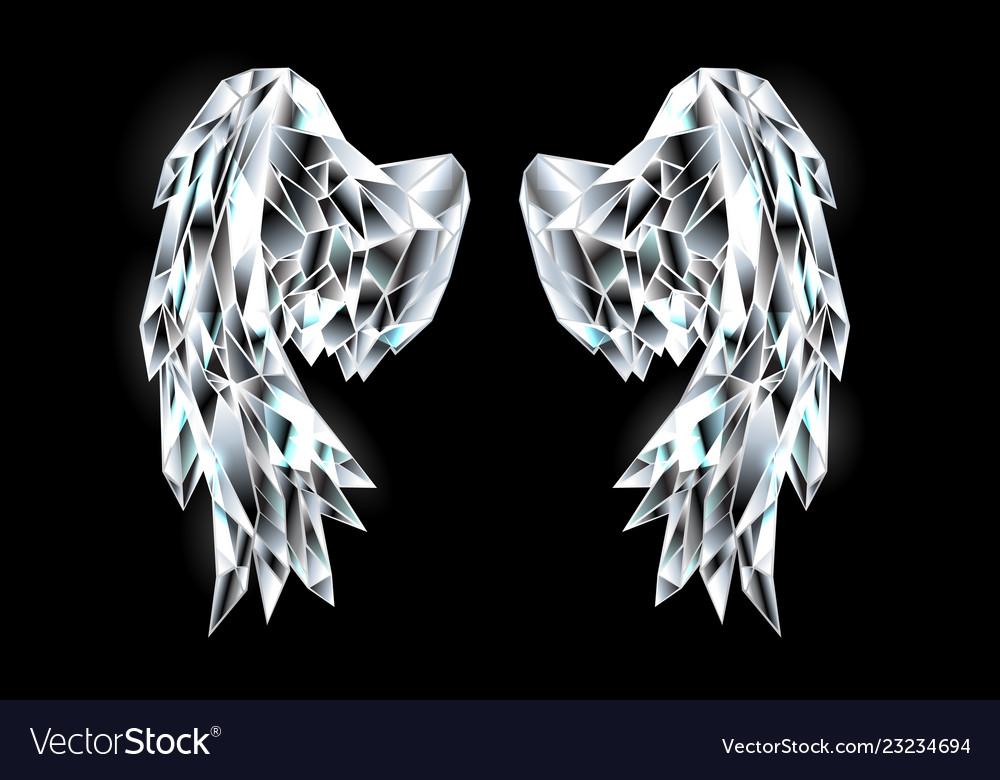 Crystal wings Royalty Free Vector Image - VectorStock