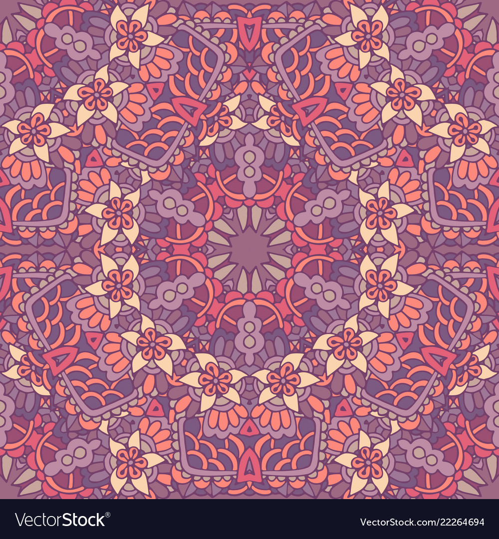 Cute doodle seamless abstract tiled pattern