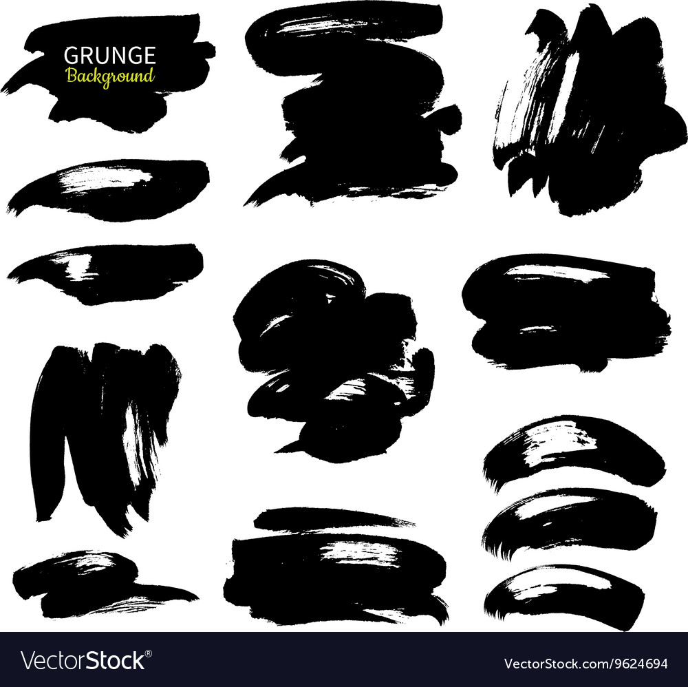 Grunge ink background set Abstract