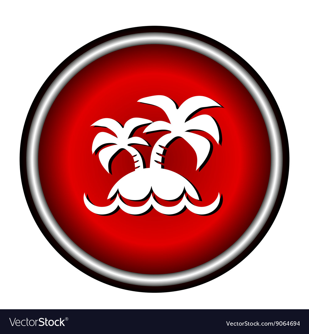 Island icon on white background