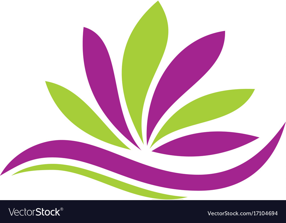 Lotus flower abstract beauty logo