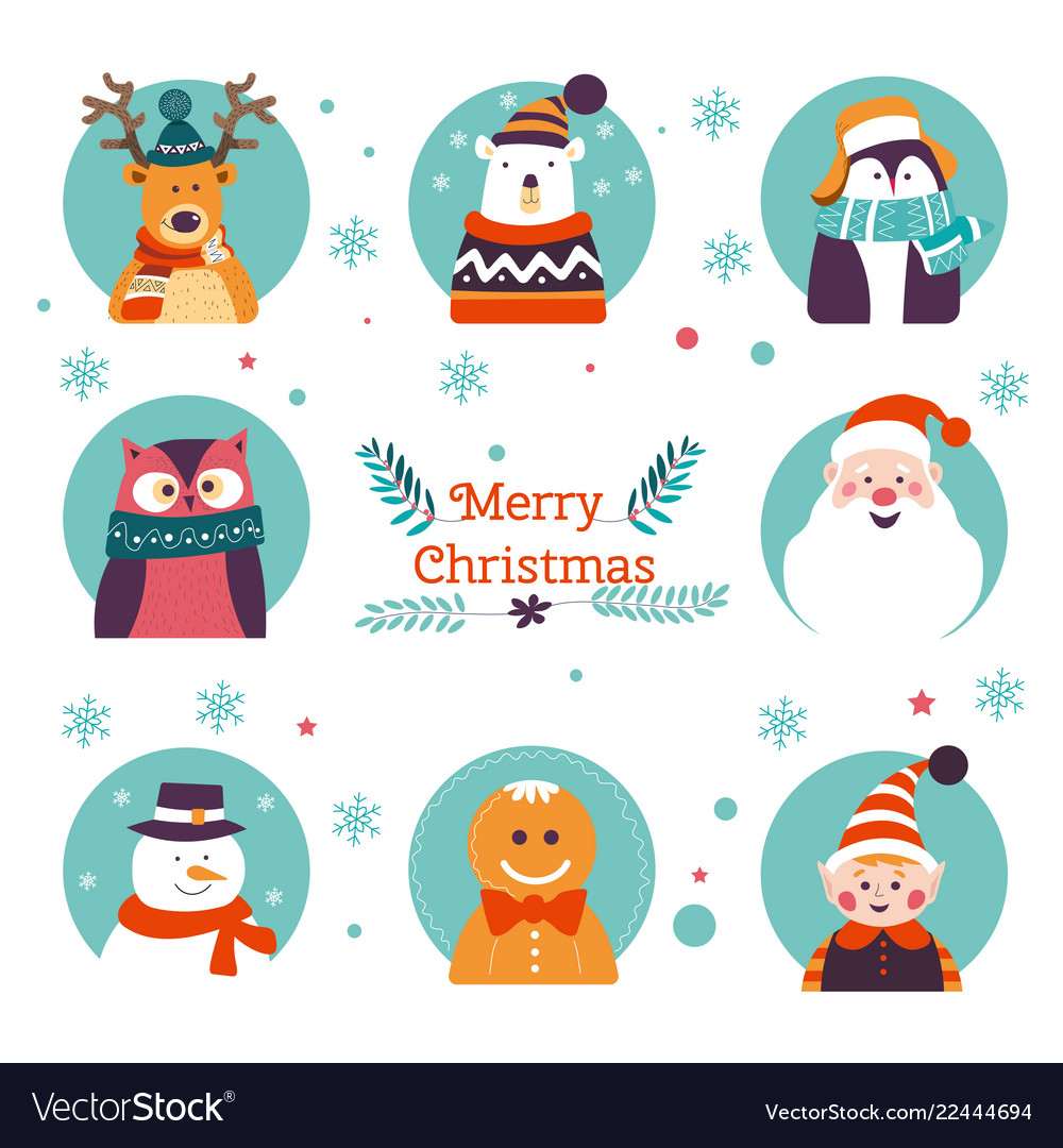 Merry christmas winter holiday traditional