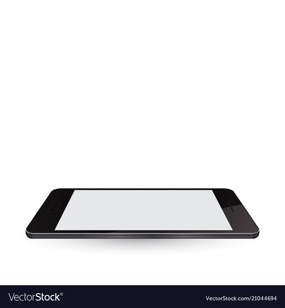 Modern realistic smartphone with blank screen
