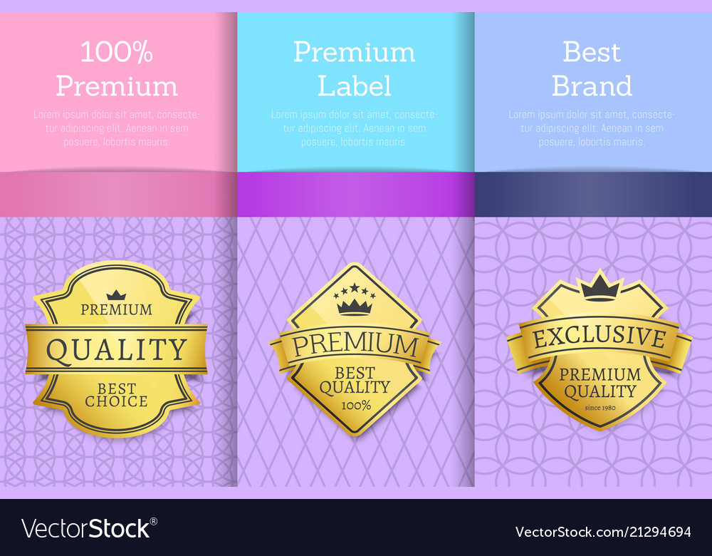 Premium award quality offer guarantee promo labels