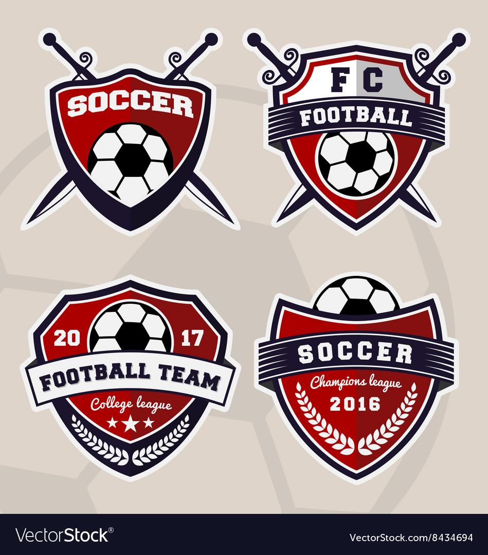 Set soccer football badge logo design