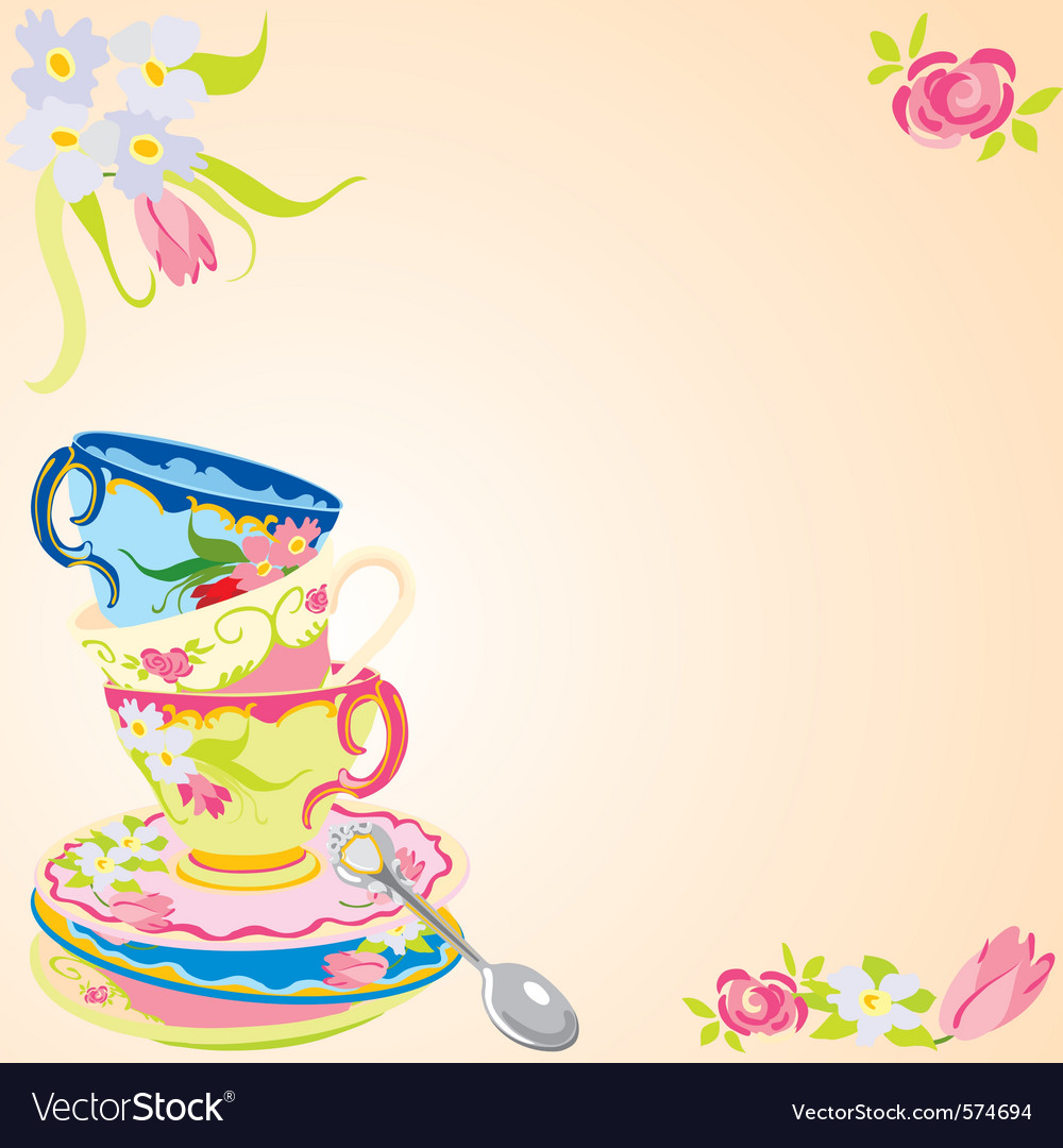 tea party invitation royalty free vector image