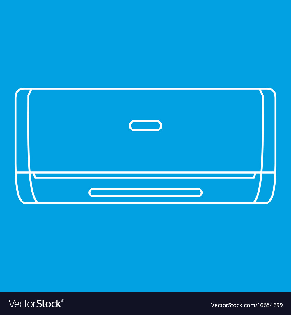 Air conditioner machine icon outline style
