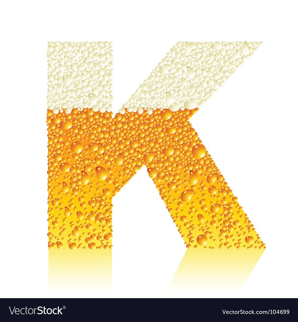 Alphabet beer k
