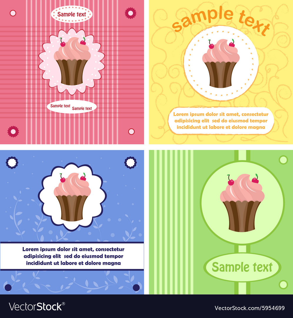 Beautiful greeting labels cards vector image