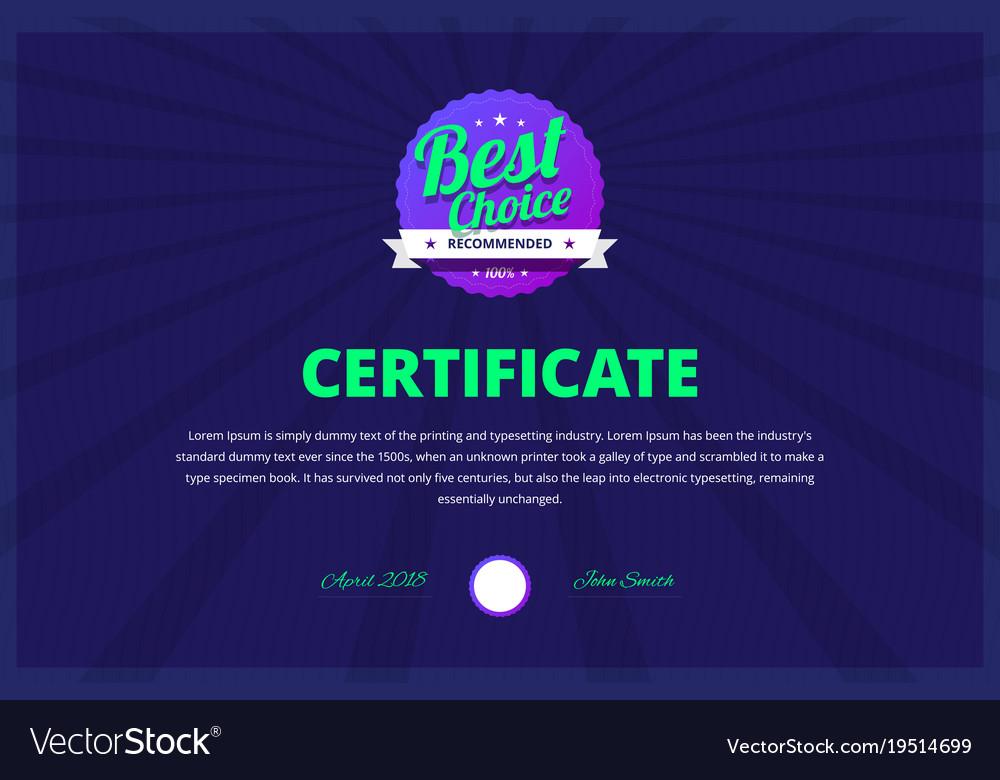 Best choice certificate for award winners