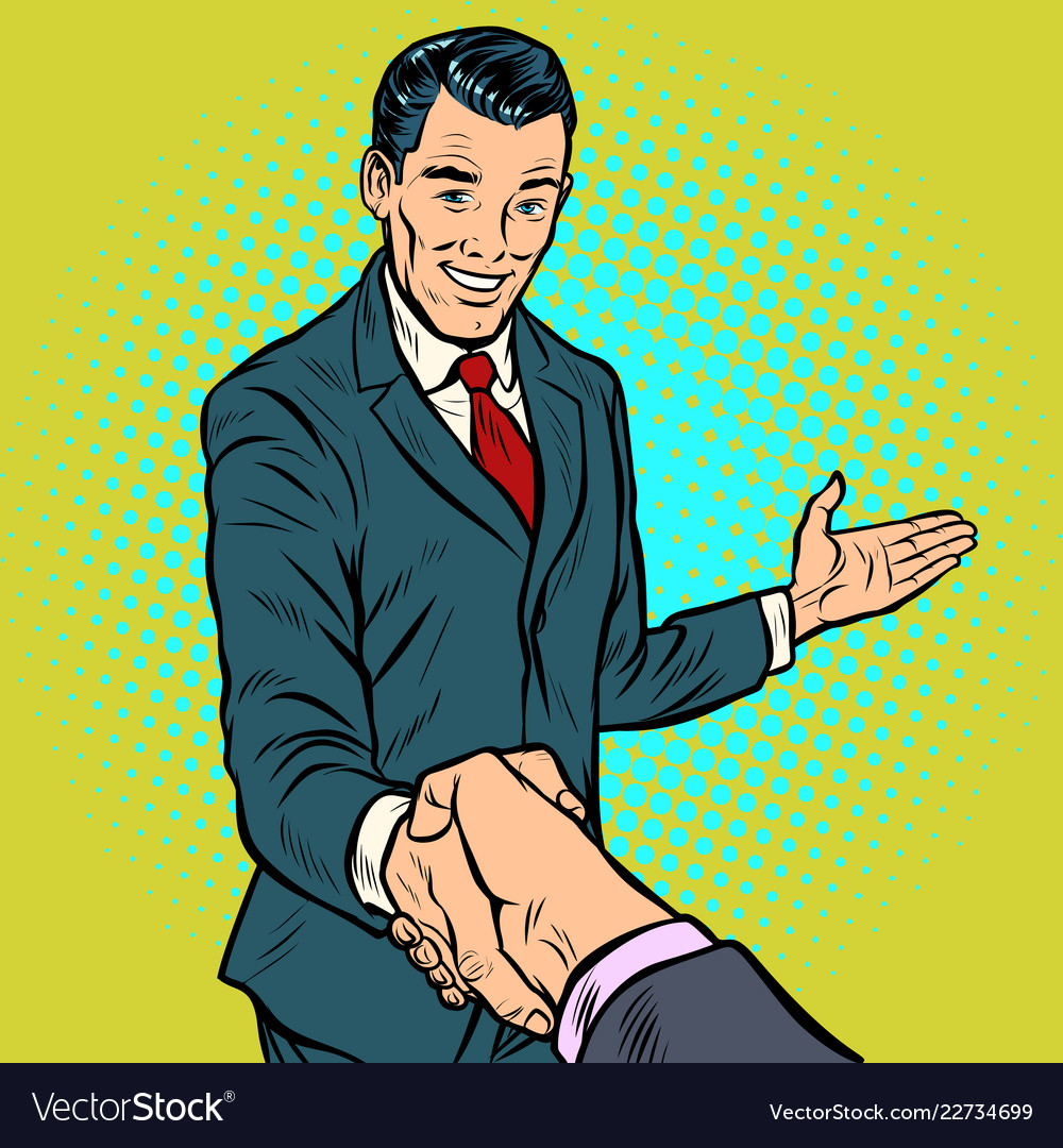 Businessman handshake partnership and cooperation