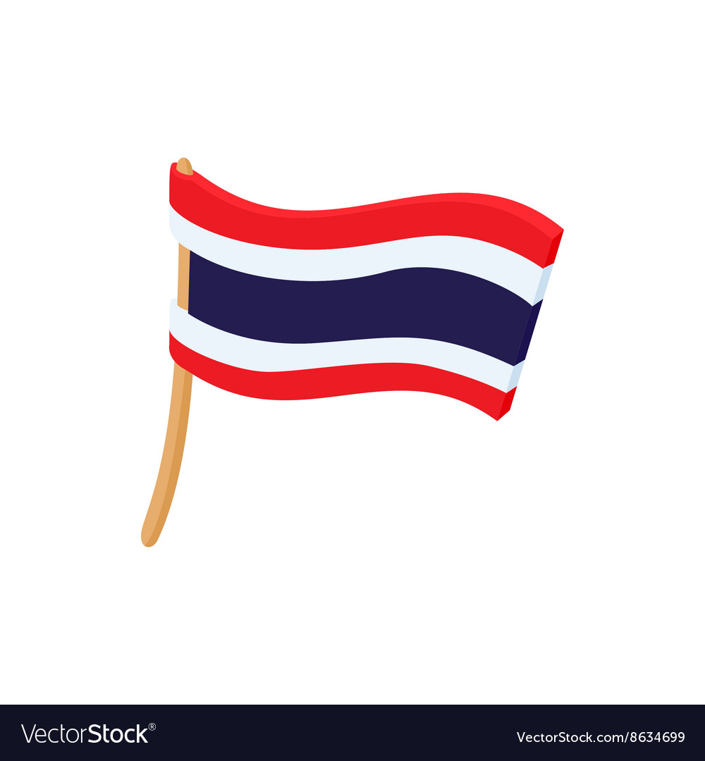flag of thailand icon cartoon style royalty free vector rh vectorstock com cartoon flat cartoon flask