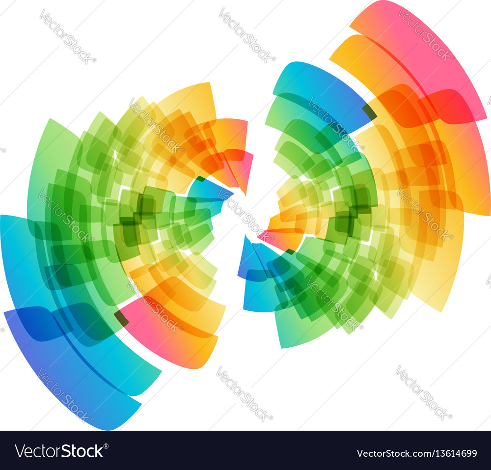 Multicolored abstract geometric circle