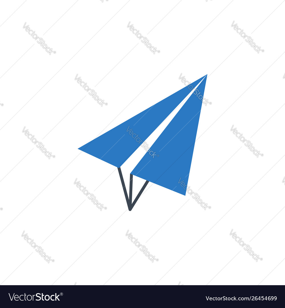 Paper airplane related glyph icon