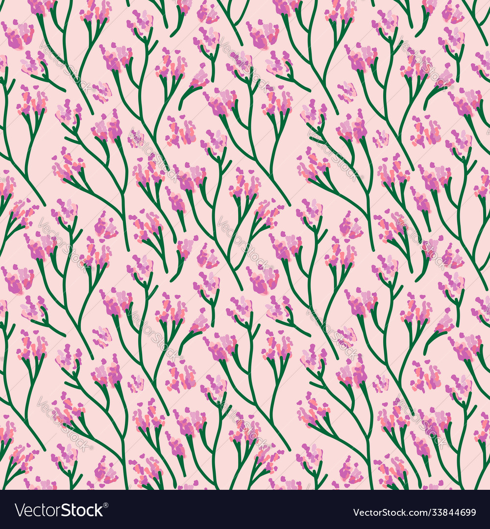 Seamless cute floral pattern background flower