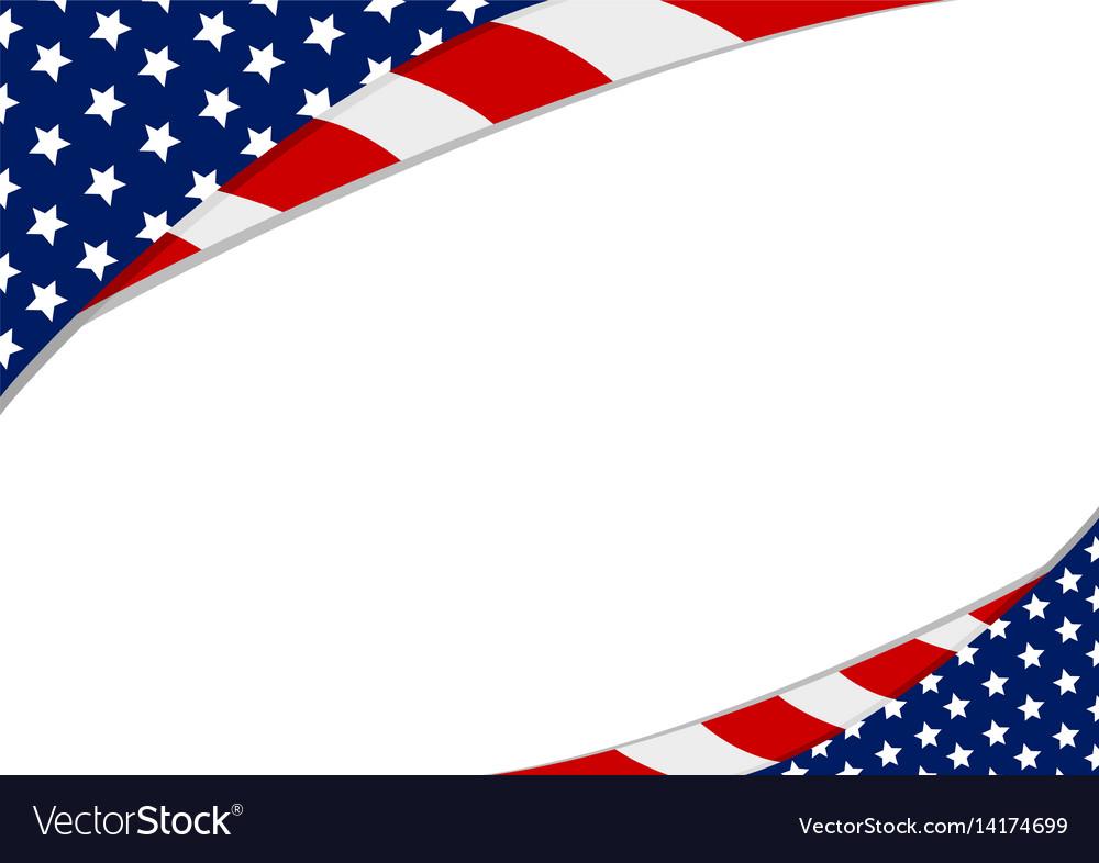 Usa Flag Design On White Background Royalty Free Vector
