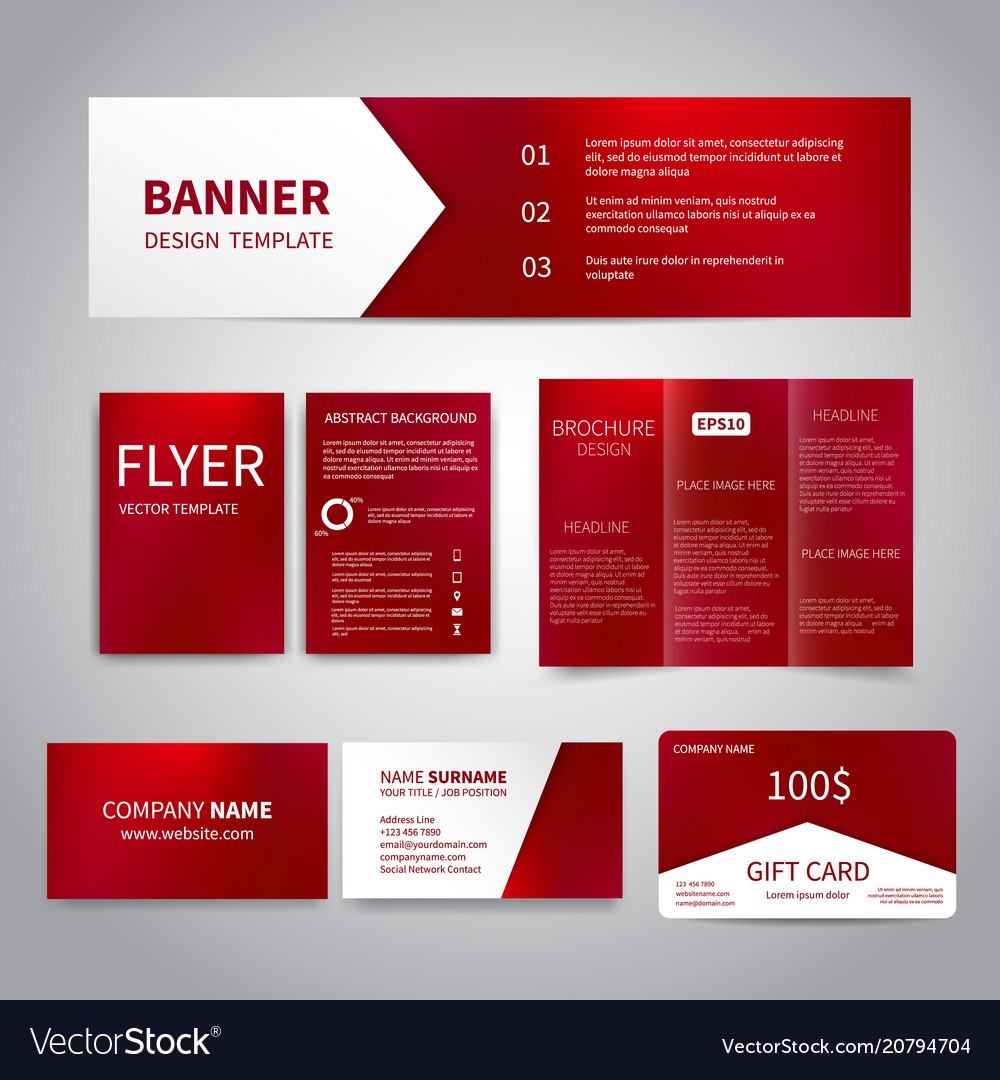 Banner flyers brochure business cards
