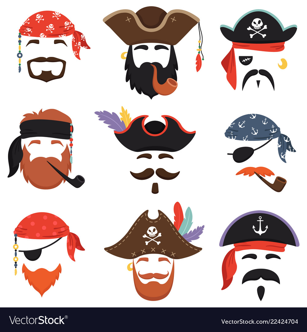 Carnival pirate mask funny sea pirates hats