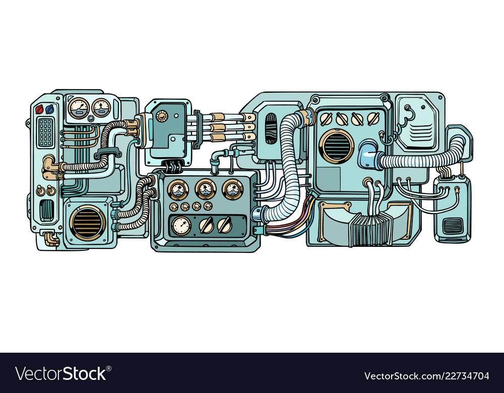 Cyberpunk robots mechanisms and machines details