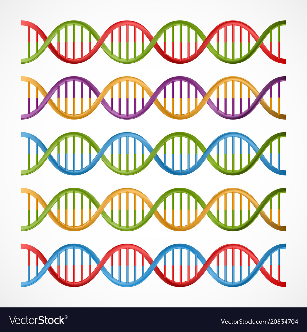 Dna icons symbols for science and medicine