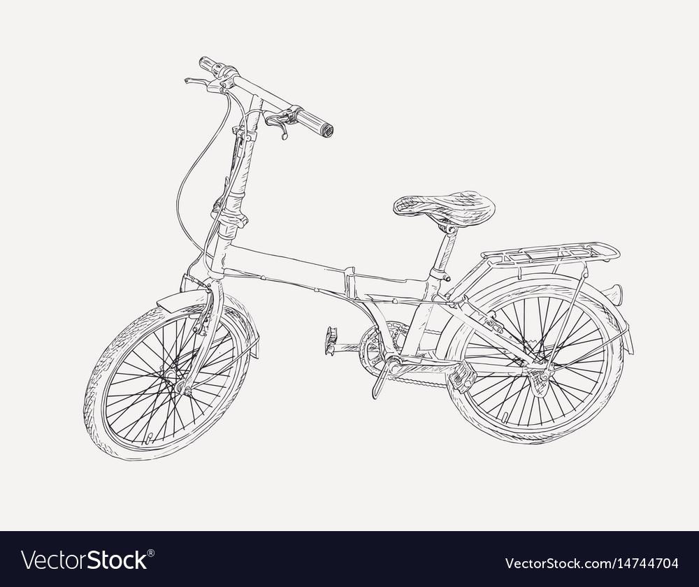 Hand drawn modern bike sketch