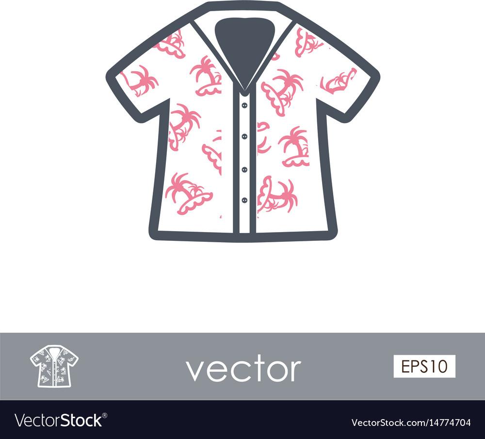 abd369e1b Hawaiian shirt palm tree icon summer vacation Vector Image