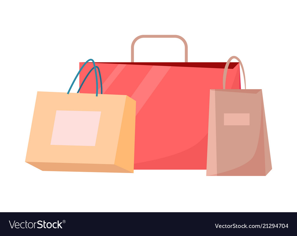Paper shopping bags disposable packages