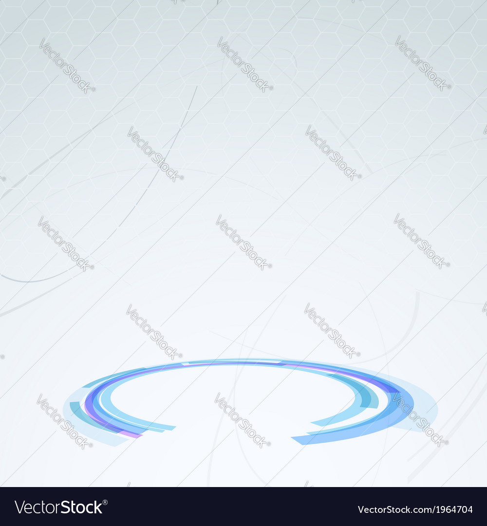 Stage for product placing - blue circle vector image